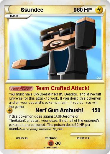 Pokmon Ssundee 9 2 Team Crafted Attack My Pokemon Card