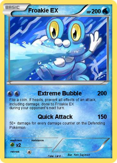 Pokémon Froakie EX 2 2 - Extreme Bubble - My Pokemon Card