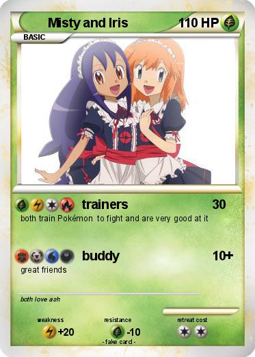 Pokémon Misty and Iris - trainers - My Pokemon Card