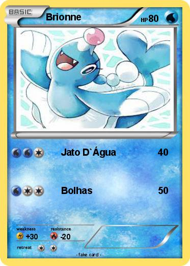 Pokmon Brionne 4 Jato Dgua My Pokemon Card