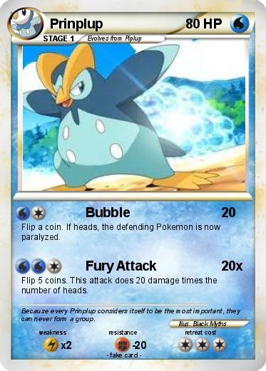 Pokémon Prinplup 94 94 - Bubble - My Pokemon Card