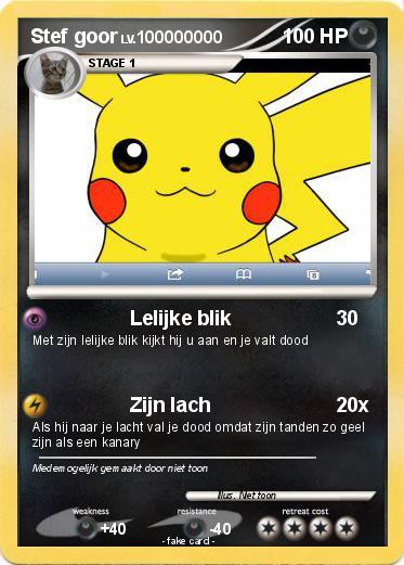 Pok 233 Mon Stef Goor Lelijke Blik My Pokemon Card