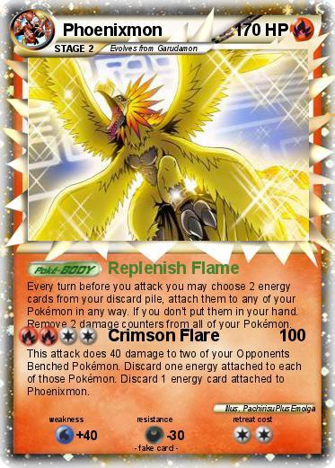 Phoenixmon Card Pokémon phoenixmon 5 5 - replenish flame - my pokemon ...