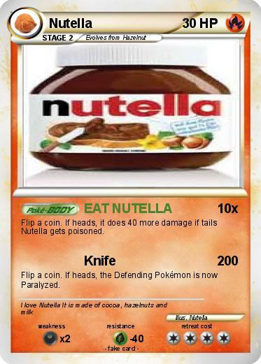 Pokemon Nutella