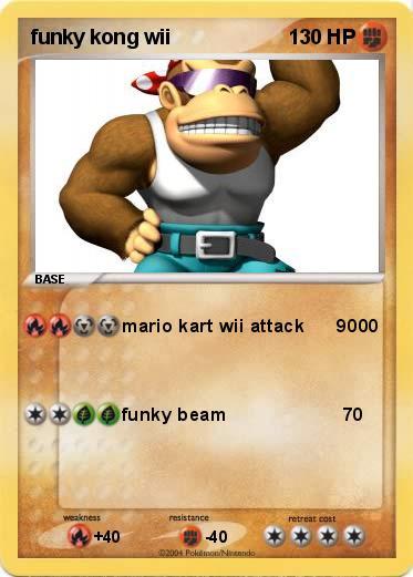 Pok U00e9mon Funky Kong Wii - Mario Kart Wii Attack 9000
