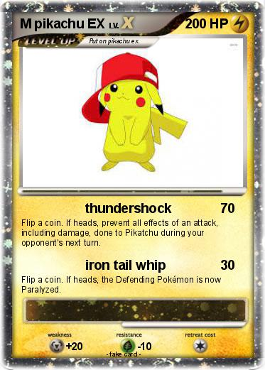 Pokémon M pikachu EX 51 51 - thundershock - My Pokemon Card