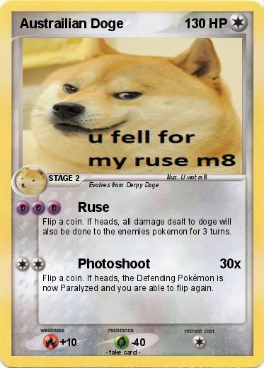 Pokemon Austrailian DogeDoge Card