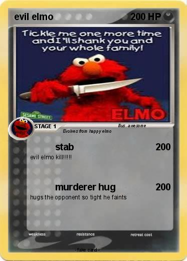 Evil Elmo Pokemon Card...