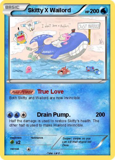 Pok mon skitty x wailord true love my pokemon card - Pokemon x wailord ...