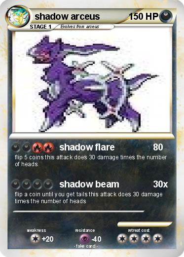 Pokémon shadow arceus 26 26 - shadow flare - My Pokemon Card