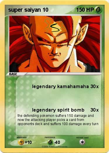 Pok mon super saiyan 10 10 legendary kamahamaha my pokemon card - Super sayen 10 ...