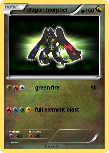 old green pokemon dragon cards
