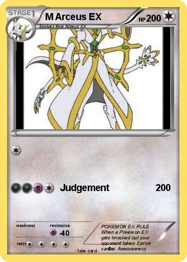 Pok mon m arceus ex 16 16 judgement my pokemon card - Pokemon arceus ex ...