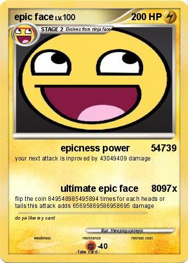 pok233mon epic face 863 863 epicness power 54739 my