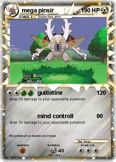 Language Card   englishPokemon Pinsir Mega