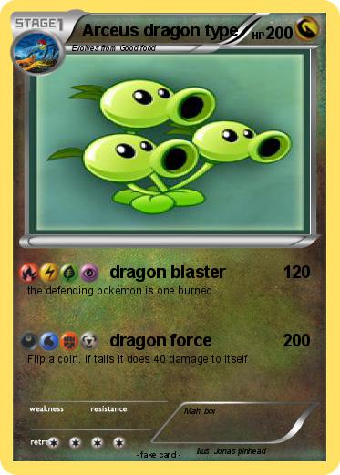 Pok mon arceus dragon type dragon blaster my pokemon card - Carte pokemon dragon ...