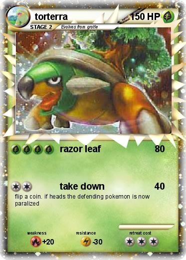 Pics For > Pokemon Torterra Card