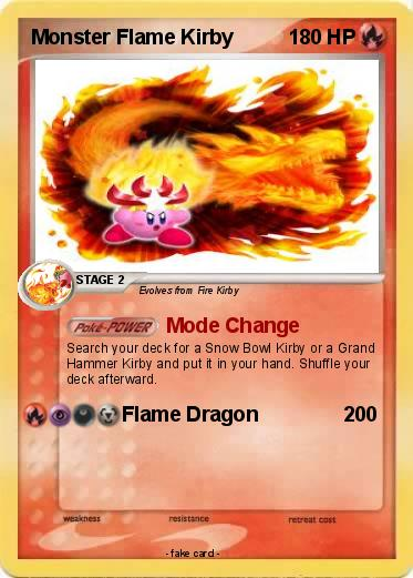 Pokémon Monster Flame Kirby 15 15 - Mode Change - My ...