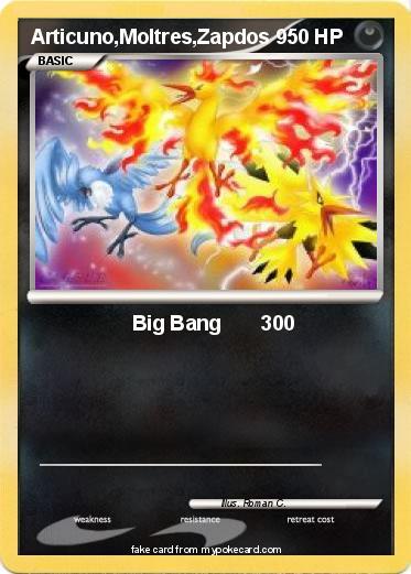 Pok mon articuno moltres zapdos 6 6 big bang 300 my for Zapdos pokemon coloring pages