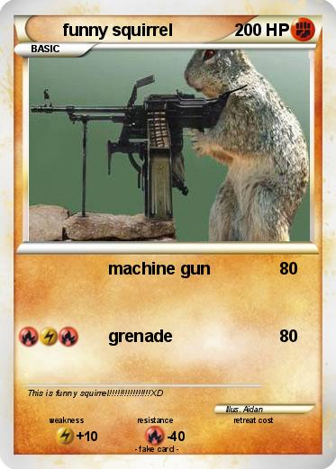 Squirrels With Guns Pokemon Cards Images | Pokemon Images