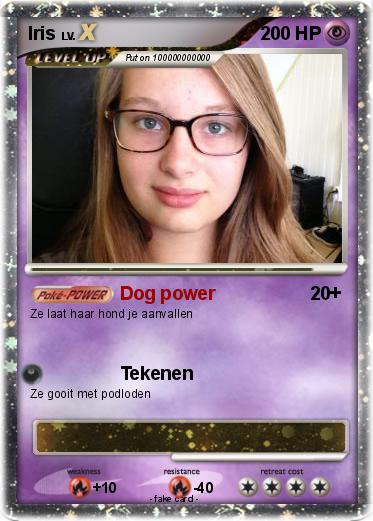 Pokémon Iris 131 131 - Dog power - My Pokemon Card