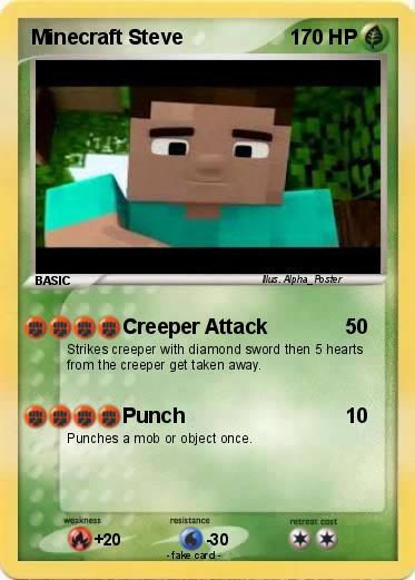 Pokemon minecraft steve