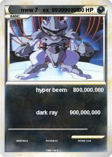 Pokémon mew 7 ex 999999999 999999999 - hyper beem ...