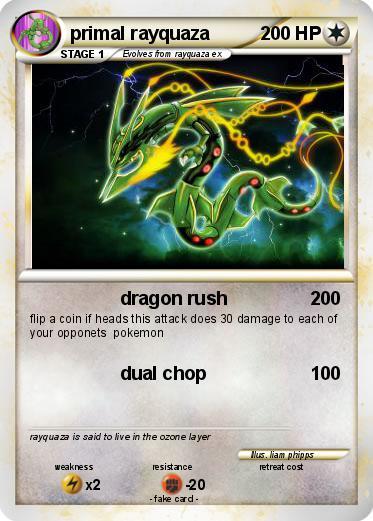 Pokémon primal rayquaza 33 33 - dragon rush - My Pokemon Card