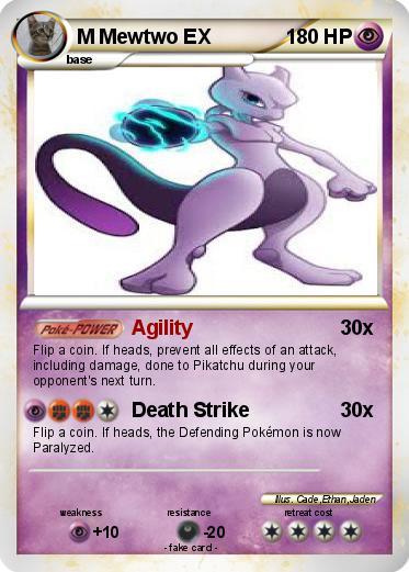 Pokémon M Mewtwo EX 150 150 - Agility - My Pokemon Card