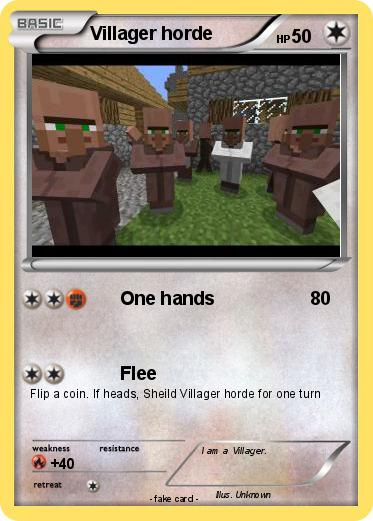 Pokémon Villager horde - One hands - My Pokemon Card Wailord Horde