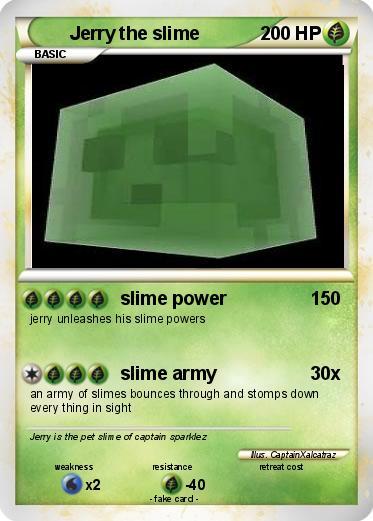 Pokémon Jerry the slime 2 2 - slime power - My Pokemon Card