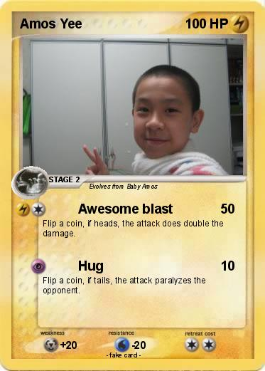 Pok��mon Amos Yee - Awesome blast - My Pokemon Card