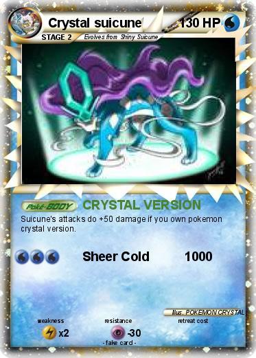 pok233mon crystal suicune crystal version my pokemon card