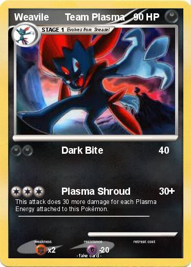 Pok mon weavile team plasma dark bite my pokemon card - Carte pokemon team plasma ...