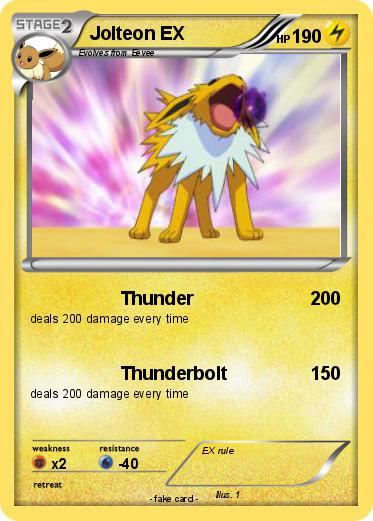 Pokémon Jolteon EX 17 17 - Thunder - My Pokemon Card