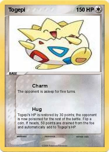 pok233mon togepi 14 14 charm my pokemon card