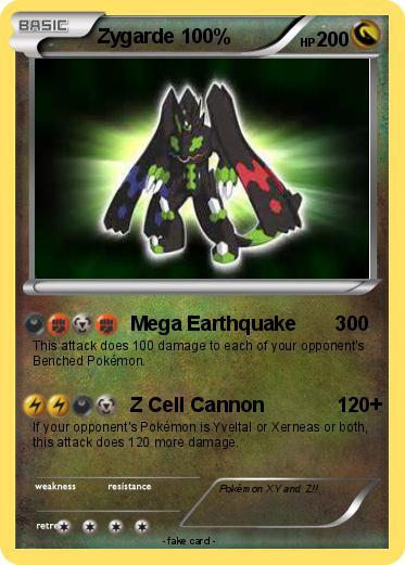Pokémon Zygarde 100 5 5 - Mega Earthquake 300 - My Pokemon ...