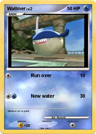 Pokémon Wailmer 57 57 - Run over - My Pokemon Card Wailmer Pokemon Card