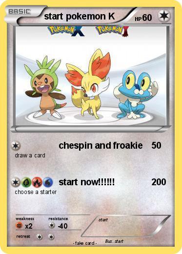 Pokemon Start Pokemon K