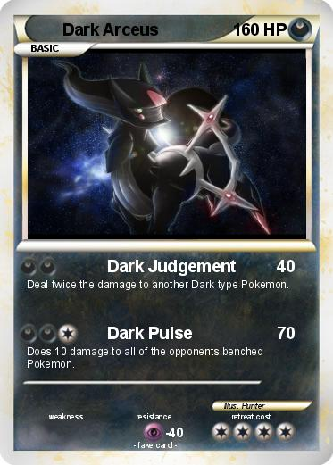 Pokemon Dark Type Card...