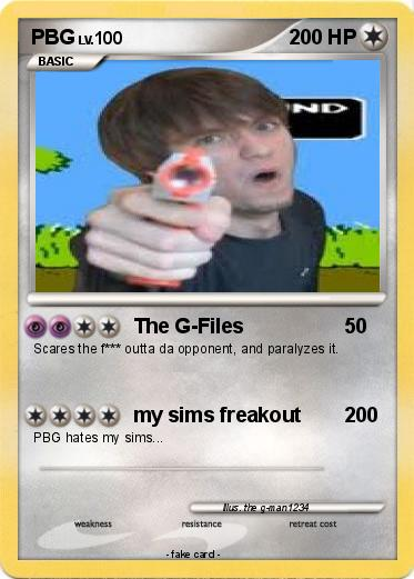 Pokmon PBG The G Files My Pokemon Card