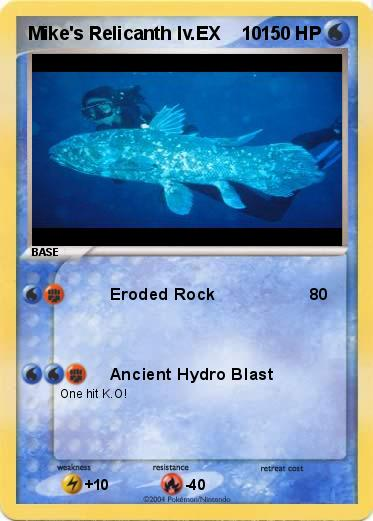 Pokemon Relicanth Card...