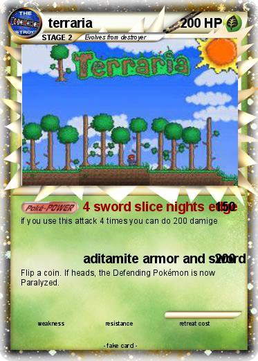 Pokmon Terraria 11 4 Sword Slice Nights Edge My Pokemon Card