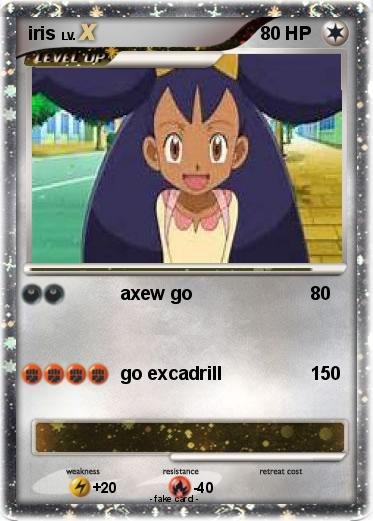 Pokémon iris 102 102 - axew go - My Pokemon Card