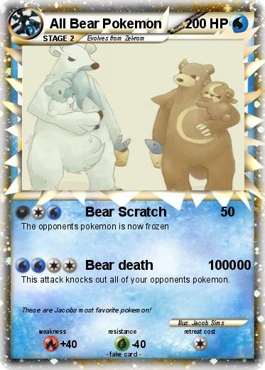 Bear Pokemon Names pok...