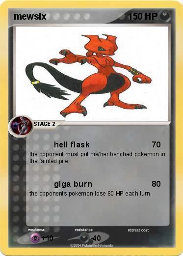 Pokémon mewsix - hell flask - My Pokemon Card