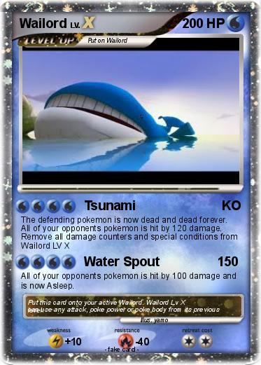 Pokémon Wailord 284 284 - Tsunami KO - My Pokemon Card Wailord Pokemon Card