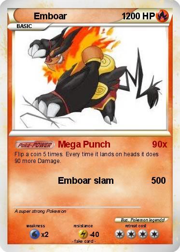 Emboar Pokemon Card   www.imgkid.com - The Image Kid Has It!