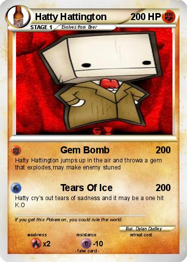 Pokmon Hatty Hattington Gem Bomb My Pokemon Card