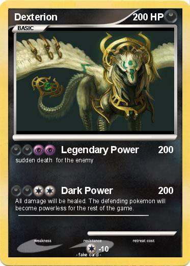 Pok mon dexterion legendary power my pokemon card - Pokemon for john gba lite ...